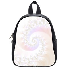 Mother Of Pearls Luxurious Fractal Spiral Necklace School Bag (small) by jayaprime
