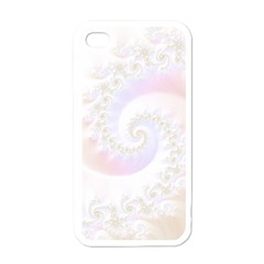 Mother Of Pearls Luxurious Fractal Spiral Necklace Apple Iphone 4 Case (white) by jayaprime