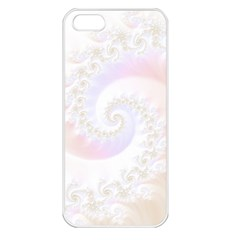 Mother Of Pearls Luxurious Fractal Spiral Necklace Apple Iphone 5 Seamless Case (white) by jayaprime