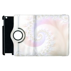 Mother Of Pearls Luxurious Fractal Spiral Necklace Apple Ipad 3/4 Flip 360 Case by jayaprime