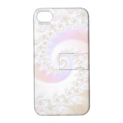 Mother Of Pearls Luxurious Fractal Spiral Necklace Apple Iphone 4/4s Hardshell Case With Stand by jayaprime