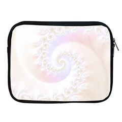 Mother Of Pearls Luxurious Fractal Spiral Necklace Apple Ipad 2/3/4 Zipper Cases by jayaprime