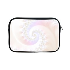 Mother Of Pearls Luxurious Fractal Spiral Necklace Apple Ipad Mini Zipper Cases by jayaprime