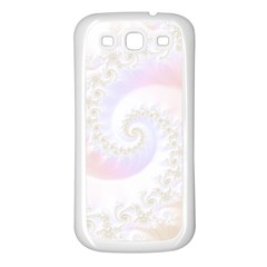 Mother Of Pearls Luxurious Fractal Spiral Necklace Samsung Galaxy S3 Back Case (white) by jayaprime