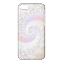 Mother Of Pearls Luxurious Fractal Spiral Necklace Apple Iphone 5c Hardshell Case by jayaprime