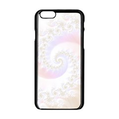 Mother Of Pearls Luxurious Fractal Spiral Necklace Apple Iphone 6/6s Black Enamel Case by jayaprime