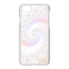 Mother Of Pearls Luxurious Fractal Spiral Necklace Apple Iphone 8 Seamless Case (white) by jayaprime