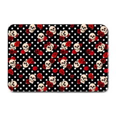 Skulls And Roses Plate Mats by Valentinaart
