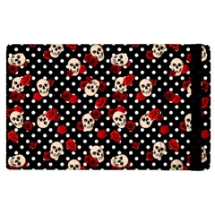 Skulls And Roses Apple Ipad 3/4 Flip Case by Valentinaart