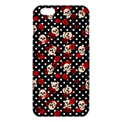 Skulls And Roses Iphone 6 Plus/6s Plus Tpu Case by Valentinaart
