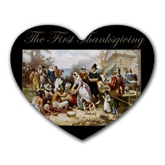 The First Thanksgiving Heart Mousepads by Valentinaart