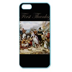 The First Thanksgiving Apple Seamless Iphone 5 Case (color) by Valentinaart
