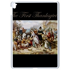 The First Thanksgiving Apple Ipad Pro 9 7   White Seamless Case by Valentinaart