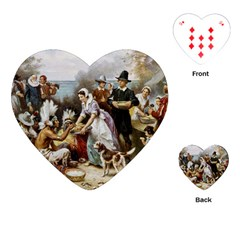 The First Thanksgiving Playing Cards (heart)  by Valentinaart