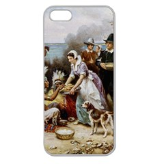 The First Thanksgiving Apple Seamless Iphone 5 Case (clear)