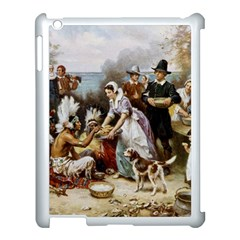 The First Thanksgiving Apple Ipad 3/4 Case (white) by Valentinaart