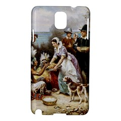 The First Thanksgiving Samsung Galaxy Note 3 N9005 Hardshell Case by Valentinaart