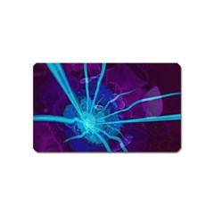 Beautiful Bioluminescent Sea Anemone Fractalflower Magnet (name Card) by jayaprime