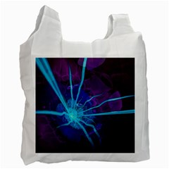 Beautiful Bioluminescent Sea Anemone Fractalflower Recycle Bag (two Side)  by jayaprime