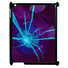 Beautiful Bioluminescent Sea Anemone Fractalflower Apple Ipad 2 Case (black) by jayaprime