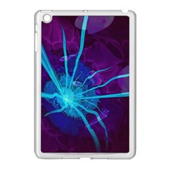 Beautiful Bioluminescent Sea Anemone Fractalflower Apple Ipad Mini Case (white) by jayaprime