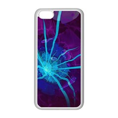 Beautiful Bioluminescent Sea Anemone Fractalflower Apple Iphone 5c Seamless Case (white) by jayaprime