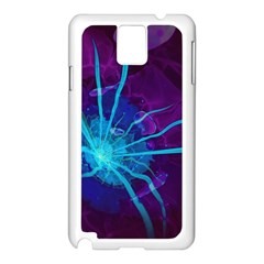 Beautiful Bioluminescent Sea Anemone Fractalflower Samsung Galaxy Note 3 N9005 Case (white) by jayaprime