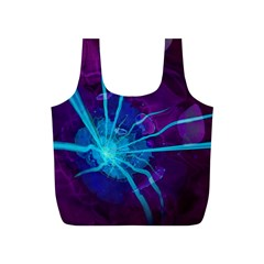 Beautiful Bioluminescent Sea Anemone Fractalflower Full Print Recycle Bags (s)  by jayaprime