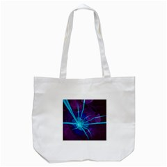 Beautiful Bioluminescent Sea Anemone Fractalflower Tote Bag (white) by jayaprime