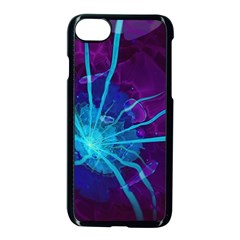 Beautiful Bioluminescent Sea Anemone Fractalflower Apple Iphone 7 Seamless Case (black) by jayaprime