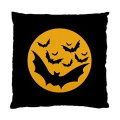 Bats Moon Night Halloween Black Standard Cushion Case (one Side)