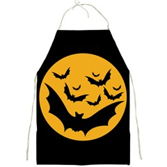Bats Moon Night Halloween Black Full Print Aprons