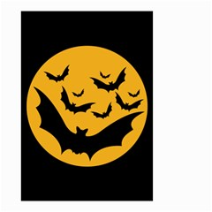Bats Moon Night Halloween Black Small Garden Flag (two Sides) by Alisyart