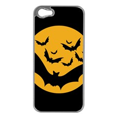 Bats Moon Night Halloween Black Apple Iphone 5 Case (silver) by Alisyart