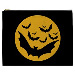 Bats Moon Night Halloween Black Cosmetic Bag (xxxl)