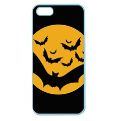 Bats Moon Night Halloween Black Apple Seamless Iphone 5 Case (color)