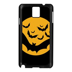 Bats Moon Night Halloween Black Samsung Galaxy Note 3 N9005 Case (black) by Alisyart