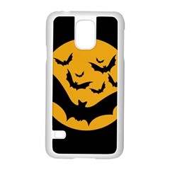 Bats Moon Night Halloween Black Samsung Galaxy S5 Case (white)