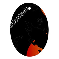 Castil Witch Hlloween Sinister Night Home Bats Ornament (oval) by Alisyart
