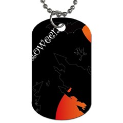 Castil Witch Hlloween Sinister Night Home Bats Dog Tag (two Sides)