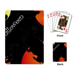 Castil Witch Hlloween Sinister Night Home Bats Playing Card by Alisyart