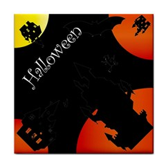 Castil Witch Hlloween Sinister Night Home Bats Face Towel