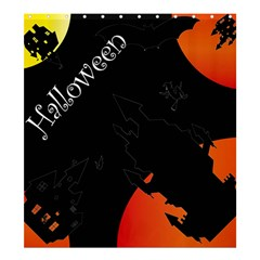 Castil Witch Hlloween Sinister Night Home Bats Shower Curtain 66  X 72  (large)  by Alisyart