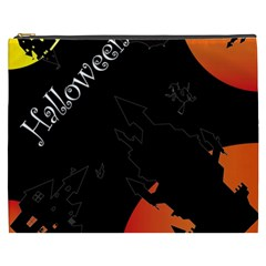 Castil Witch Hlloween Sinister Night Home Bats Cosmetic Bag (xxxl)