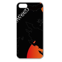 Castil Witch Hlloween Sinister Night Home Bats Apple Seamless Iphone 5 Case (clear) by Alisyart