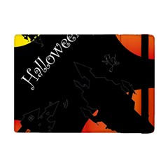 Castil Witch Hlloween Sinister Night Home Bats Apple Ipad Mini Flip Case by Alisyart