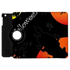 Castil Witch Hlloween Sinister Night Home Bats Apple Ipad Mini Flip 360 Case by Alisyart