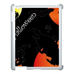 Castil Witch Hlloween Sinister Night Home Bats Apple Ipad 3/4 Case (white)