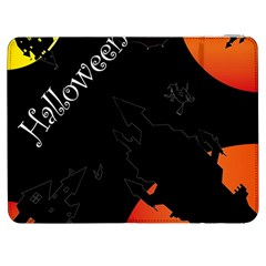 Castil Witch Hlloween Sinister Night Home Bats Samsung Galaxy Tab 7  P1000 Flip Case