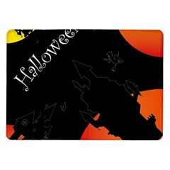 Castil Witch Hlloween Sinister Night Home Bats Samsung Galaxy Tab 10 1  P7500 Flip Case